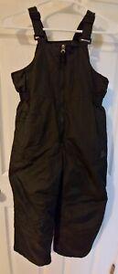 ZEROXPOSUR Boys Black SNOW BIB PANTS - Size: 7