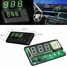 Car GPS Satellite Speedometer HUD Head Up Overspeed Alarm MPH/KM/h Plug&Play #BD