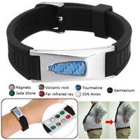 7in1 Bio Titane Magnétique Énergie Brassard Power Bracelet Santé Douleur