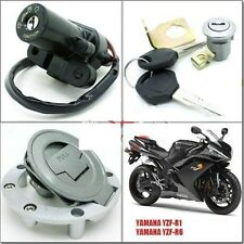 Ignition Switch Gas Cap Cover Seat Lock Key Set for Yamaha YZF R6 2008-2012