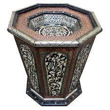 Table à Thé Marocain Bois Maychort Déguisé Boushish H50xB50cm