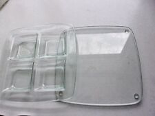 """PartyLite Stratus 2 Piece Heavy Green Glass Candle Trays Hb3306 Which are 9""""x 9"""""""