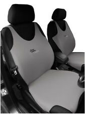 2 GREY FRONT VEST CAR SEAT COVERS PROTECTORS FOR RENAULT CLIO