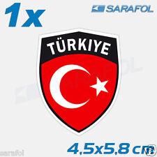 1x turquie Autocollant Emblème 101 türkiy sticker Flag turchia Adesivo 4,5x5,8 CM