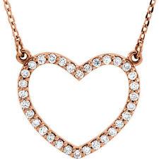 Diamante Petite Corazón 40.6cm Collar en 14k oro rosa ( 1/4 Ct. TW