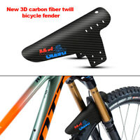 Mountain Bike Accessories Fender 3D Carbon Fiber Twist Cycling Mtb Rear Guard