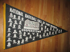 """1966 NATIONAL BASEBALL HALL OF FAME MEMBERS 36"""" Pennant BABE RUTH TED WILLIAMS"""