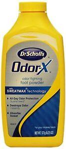 3 Pack Dr. Scholls Odor X Odor Fighting Foot Powder 6.25 Oz Each