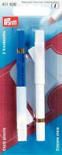 2 Kreidestifte weiß blau Prym 611626 Löschbürste Schneider Kreide Stift
