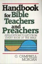 Sale: Handbook for Bible Teachers and Preachers by G. Campbell Morgan (1985)