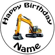 """Personalizzato Compleanno di dote ROUND 8"""" facile PRETAGLIATO GLASSA cake topper"""
