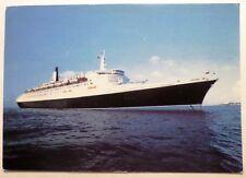 rms Queen Elizabeth 2. Cunard Line. QE2. Liner. Cruise Ship. Blue Water Line.