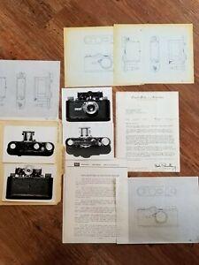 1925 Leica I Camera #361 Bob Schwalberg Correspondence Photos Drawings Cal's