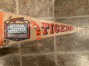 Detroit Tigers 1974 Team Picture Pennant