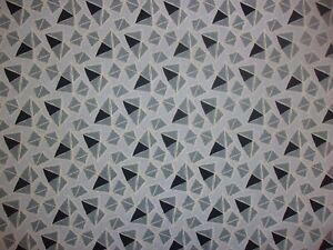 2 YARDS Sevilla Gray Geometric Triangle Contempo Premium Quilting Cotton Fabric
