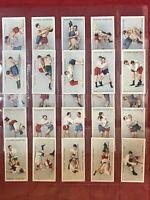1913 JOHN PLAYER-WRESTLING & JU-JITSU-JUDO-FULL 25 CARD SET-TOBACCO CARDS-NRMINT