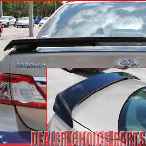 For 2009-2011 2012 2013 Toyota Corolla Factory Style Spoiler PAINTED GLOSS BLACK