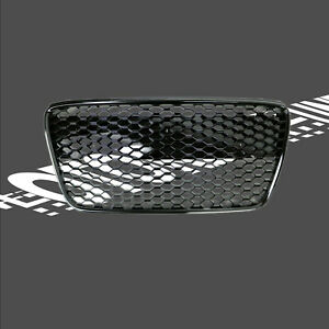 Fit for 07-12 R8 Spyder Gen1Car Grille Grill Insert Gloss Black Euro Hex Style