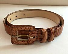 CHARTER CLUB Genuine Lizard British Tan Medium Brown Belt Size M