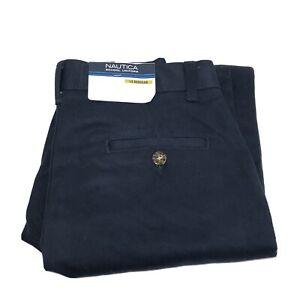 New W/ Tags Nautica Big Boys' Uniform Flat Front Pant Navy Large Size 14 Reg