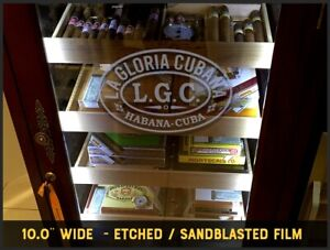 La Gloria Cubana Etched / Frosted Vinyl Decal 10.0 inch