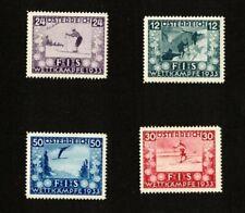 Austria FIS 1933 Issues Complete  Scott# B106 - B109 stamps