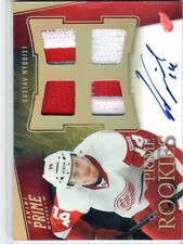 2011-12 Panini Prime Rookies Hologold - Gustav Nyquist Quad Patches Auto SN# /25
