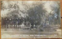 Sterling, IL 1909 Realphoto Postcard: Central Park - Illinois Ill