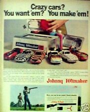 1968 Topper Johnny TOYmaker Model Crazy Cars You Make'em Promo Trade AD
