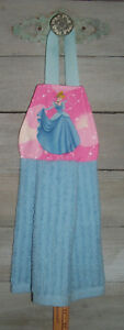 Cinderella Blue Ballgown Disney Hanging Finger Tip Powder Room Bath Hand Towel