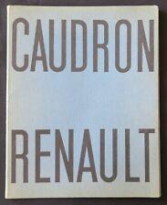 Brochure publicitaire 1934 AEROPLANE René CAUDRON RENAULT biplan avion aviation