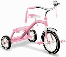 """Radio Flyer Girls Classic Dual Deck Tricycle 33P Pink 12"""" Front Tire New in BOX"""