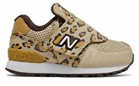 New Balance Kid's Hook and Loop 574 Day at the Zoo Infant Girls Shoes Brown Size