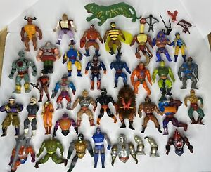 MOTU Thundercats Lot 34 Figures Remco Skullman Kenner Super Powers 80s Toys