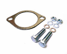 "Universal 3"" 2 Bolt Exhaust Downpipe Gasket and Bolts Kit 3 Inch 76mm"