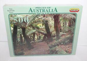Pieces Of Australia Jigsaw Ferns Russell Falls Tasmania Jigsaw Puzzle 500 New