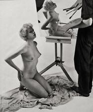 1950's Vintage Mid Century FEMALE NUDE ARTIST MODEL Photo Litho Art ZOLTAN GLASS