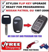 NISSAN PATROL GU COMPLETE REMOTE FLIP KEY KEYLESS TRANSPONDER CHIP 1997-2006 FOB