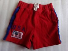 Boys Classic POLO RALPH LAUREN Red White Blue American Flag Shorts Sz 12 Months