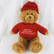 Gund Radio City Spectacular Teddy Bear Plush Stuffed Animal New York Red Sweater