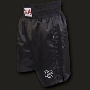 Paffen Sport PRO Boxerhose. XS-XXL. Schwarz. 100% Polyester. Boxen. Boxhose, MMA