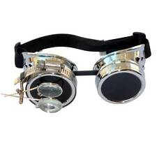 Steampunk goggles Zombie welding diesel punk biker goth cosplay rave lens CS D