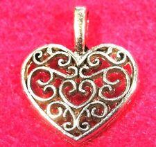 50Pcs. WHOLESALE Tibetan Silver HEART of Hearts Charms Pendants Ear Drops Q0250