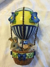 """Charming Tails """"Colorful Balloon Ride"""" 98/330 Fitz And Floyd Blue and White"""