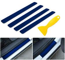 4 Kohlefaser Auto Türschwelle Schutz Anti-Kratzer Einstiegsleisten Werkzeug Blau