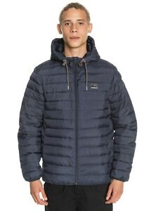 QUIKSILVER SCALY HOODED INSULATOR JACKET BLUE  EQYJK03629 BYP0 MENS  RRP £90
