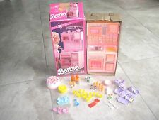 Vintage BARBIE COOKING CENTER 1990 Pink Sparkles Kitchen Furniture USED Item Lot
