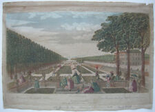 OPTICAL VIEW visionneuse Feuille Dresde Grand Jardin Orig CUIVRE Pli 1770