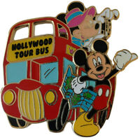 DISNEY PIN DSF SODA MICKEY & MINNIE TOURISTS HOLLYWOOD TOUR BUS 3D PIN LE 300