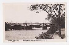 RPPC,Melbourne,Victoria,Australia,Prices Bridge & The Yarra,Rose Photo,c.1930s